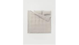 Image of a King Beige Linen Duvet Cover & Sham Set