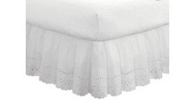 Image of a Eyelet Ruffled Bedskirt, King