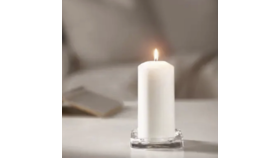 "Image of a 6"" White Candles"
