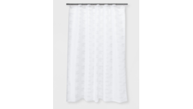 Image of a Herringbone Woven Shower Curtain w/ Liner