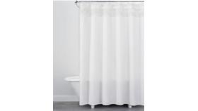 Image of a Macrame Fringe Shower Curtain