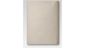 Image of a Brown Linen Fitted Sheet, Twin