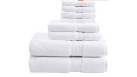 Image of a Bath Towel Set, White