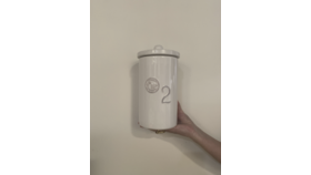 "Image of a ""2"" White Si Bon Canister"