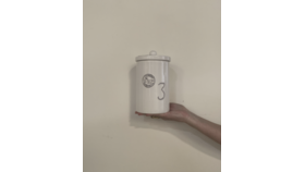 "Image of a ""3"" White Si Bon Canister"