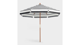 Image of a 9 ft Market Umbrella - Black and White