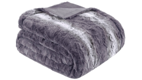 Image of a Faux Fur Throws - Grey