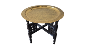 Image of a Antique Brass Tray Table