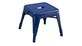 Image of a Blue Metal Stool