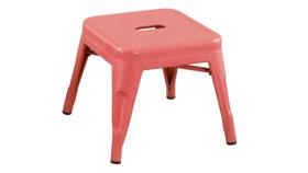Image of a Pink Metal Stool