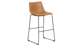 Image of a Cognac Leather Barstools