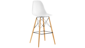 Image of a White Shell Barstool