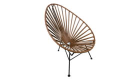 Image of a Acapulco Chair - Brown Leather