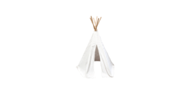 Image of a Kid's Cream Boho Teepee