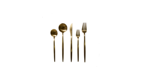 Image of a 5-piece Gold Flatware