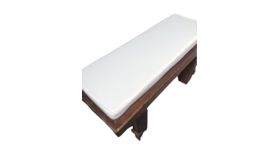 Image of a Bench Cushions- White