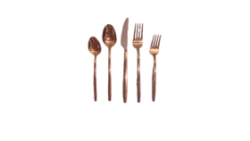 Image of a 5-Piece Flatware- Classic Rose Gold
