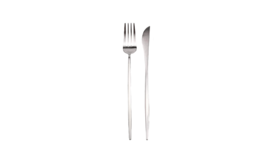 Image of a 2-Piece Flatware- Modern Silver