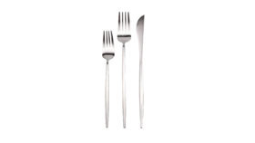 Image of a 3-Piece Flatware- Modern Silver