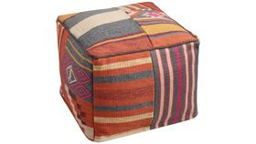 Image of a KILIM PATCHED POUF