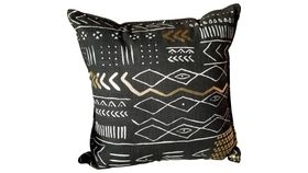 Image of a BLACK & WHITE TRIBAL OVERSIZED PILLOW
