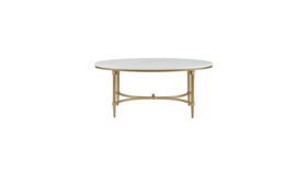 Image of a MARBLE & GOLD COFFEE TABLE