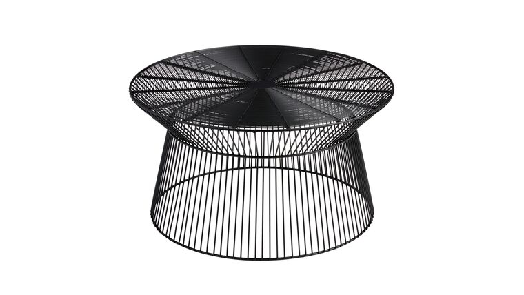 Picture of a BLACK WIRE COFFEE TABLE