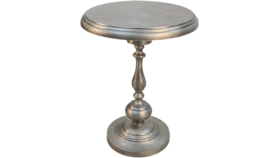 Image of a ANTIQUE NICKEL ACCENT TABLES
