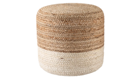 Image of a IVORY & NATURAL POUF