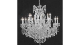 Image of a Crystal Chandelier Large Clear
