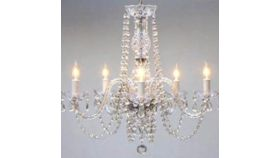 Image of a Crystal Chandelier Small Clear