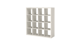 Image of a White Back Bar Cube