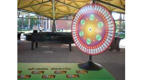 Image of a Big 6 Money Wheel w/ Dealer