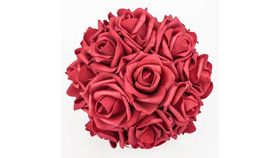 "Image of a 9.5"" Red Rose Kissing Ball"