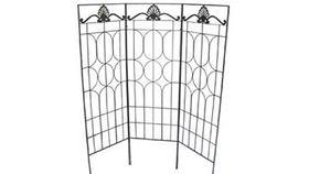 Image of a Black Square Top 3 Panel Trellis