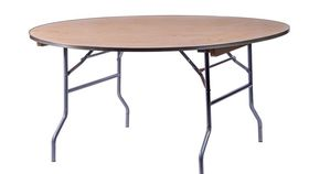"""Image of a 60"""" ROUND WOOD TABLE"""