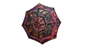 Image of a EMBROIDERED UMBRELLA - MULTI-COLOR