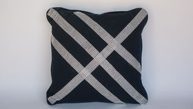 Image of a BLACK BEADED PILLOW