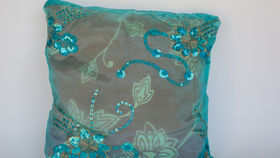 Image of a BEADED PILLOW
