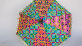 Image of a EMBROIDERED UMBRELLAS - MULTICOLOR