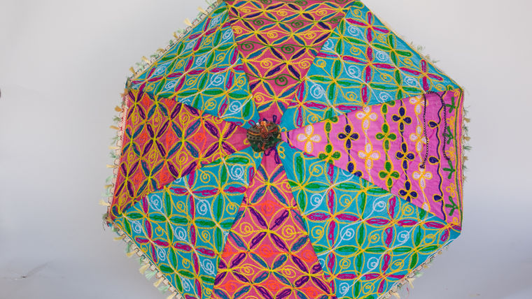Picture of a EMBROIDERED UMBRELLAS - MULTICOLOR