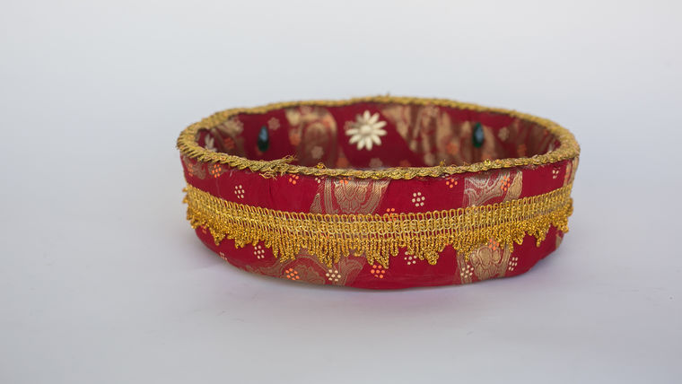Picture of a BASKET(PHULKARI STYLE)