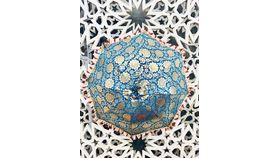 Image of a GOLD/BLUE UMBRELLA