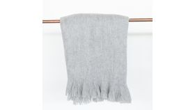 Image of a Grey Mohair Blanket