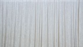 Image of a (11 ft.H x 5 ft.W) White Crushed Velour Drape