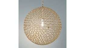 Image of a Sphere Wire Chandelier - Gold