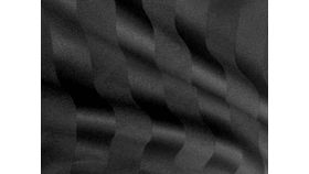 "Image of a 108"" Round Polyester Black Satin Stripe"