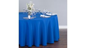 "Image of a 108"" Polyester Round Royal Blue"