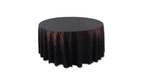 "Image of a 120"" Round Polyester Black Satin Stripe"