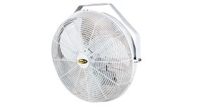 "Image of a 20"" Fans, White, Mounted Fans"